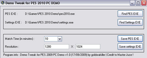 Modificar demo pes2010